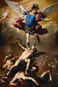 """Luca Giordano """"El arcángel san Miguel y los ángeles caídos"""""""